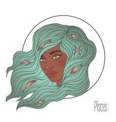 pisces astrological sign as a vector image