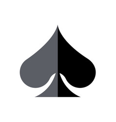 Playing cards spade shade vector