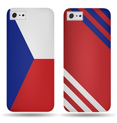 Rear covers smartphone with flags of Czech Republi vector