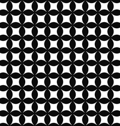 Seamless monochrome shape pattern vector image