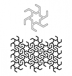 seamless star motif vector image