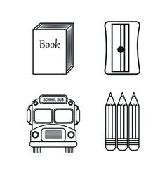set elements school design graphic vector image