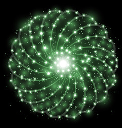 Shining stars with star dust green color vector