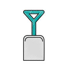Shovel beach isolated icon vector