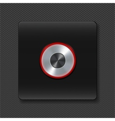 Silver buttons with neon on black vector