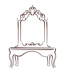 Sketched mirror vector image