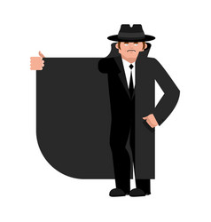 smuggler selling something cloak-seller isolated vector image