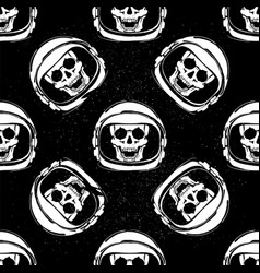 Space helmet pattern vector