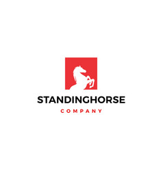 standing horse logo icon square vector image