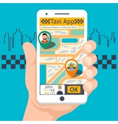 Taxi mobile app template set vector image