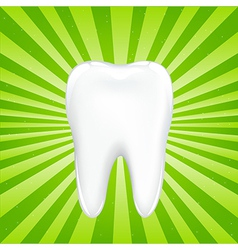 Tooth With Beams vector