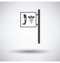 Vet clinic icon vector image