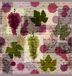 vintage wine background vector image