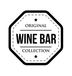 Wine bar logo vintage isolated label vector