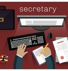 Workspace Secretary Design Flat vector