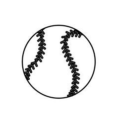 baseball ball sport play equipment line vector image