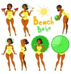 Beach Babe - clip-art vector image vector image
