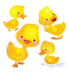 Cute duck yellow vector image vector image