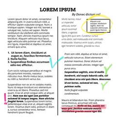 marker memo text highlighter highlight vector image