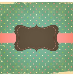 Retro Grunge Polka Dot Background vector image vector image