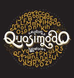 custom retro typeface quasimodo vector image