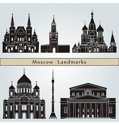 Moscow landmarks and monuments vector image