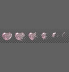 pink bubble burst sprites vector image vector image