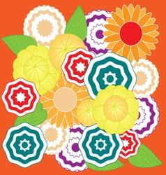 Springtime colorful flower pattern vector image