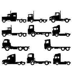 Truck silhouettes vector image