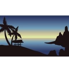 Beach at morning scenery vector image