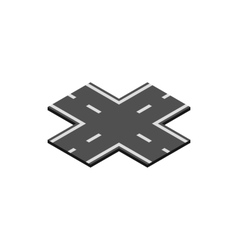 Crossroad icon isometric 3d style vector image vector image