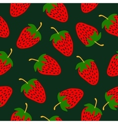 Strawberries hand drawn pattern vector image