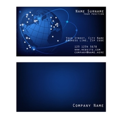 Business card space with Earth vector image
