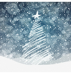 christmas tree background with copyspace vector image vector image