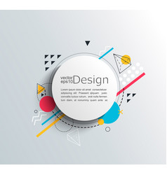 circle frame with colorful geometric shapes vector image