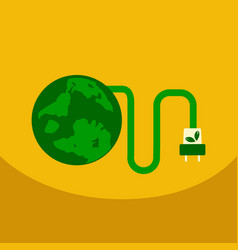 ecology infographics design elements planet and vector image