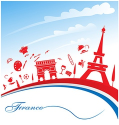 france background with flag vector image