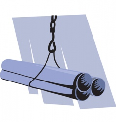 pipe lifting vector image vector image