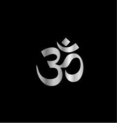 Religious Symbol of Hinduism- Pranava vector image vector image