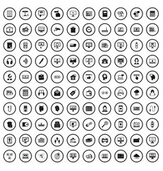 100 internet banking icons set simple style vector