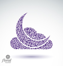 A New Moon with a cloud beautiful art flora vector