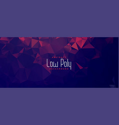 abstract duotone low poly geometric banner design vector image
