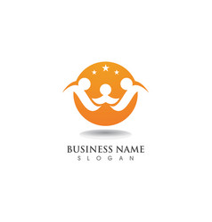 adoption family logo and symbol vector image