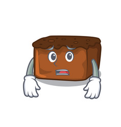 Afraid brownies mascot cartoon style vector