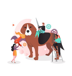 Animal care concept for web banner website vector