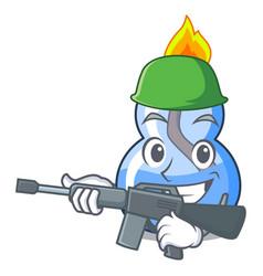 Army alcohol burner character cartoon vector
