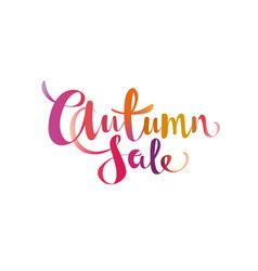 Autumn sale gradient lettering promo offer design vector