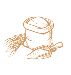 bag flour vector image