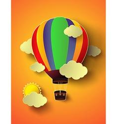Balloon with sunset vector