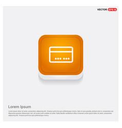 Box icon orange abstract web button vector